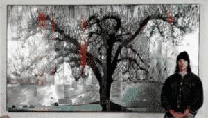 Dave Hind Artist with Blossumbug 72×132