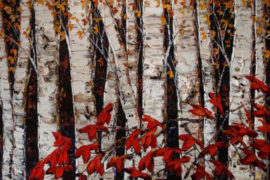 Maya Eventov Night Birch 40x60