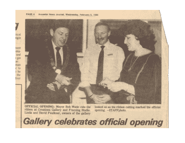 Official Opening Day 1986 Creations Art Gallery