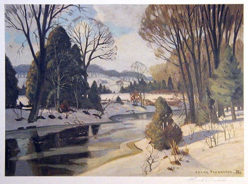 Frank Panabaker Winter Stream