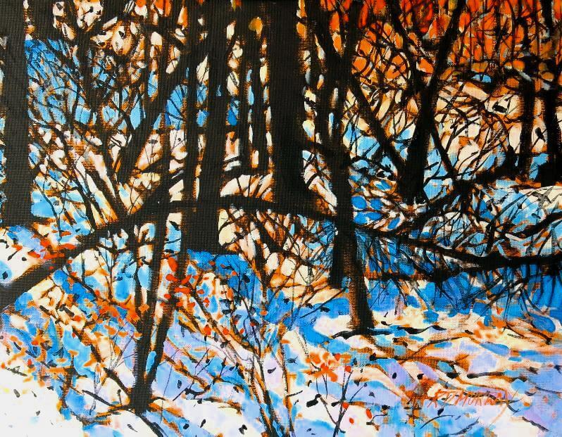 RD Murray Winter Forest 12X16