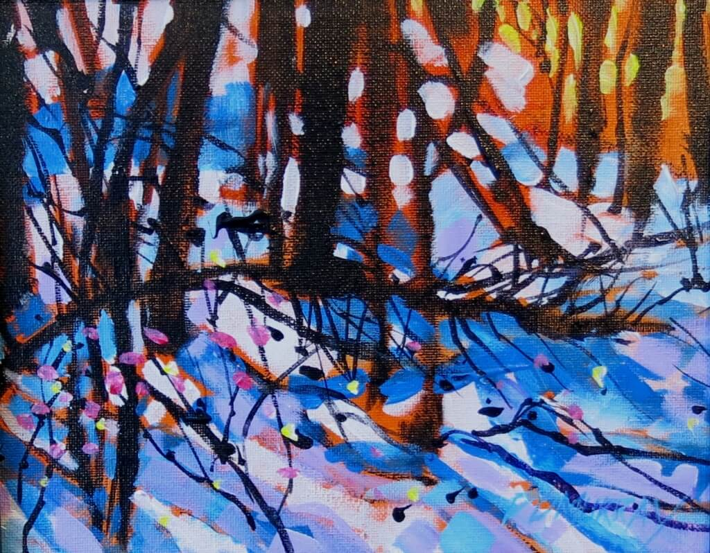 RD Murray Winter Forest SKETCH 8x10