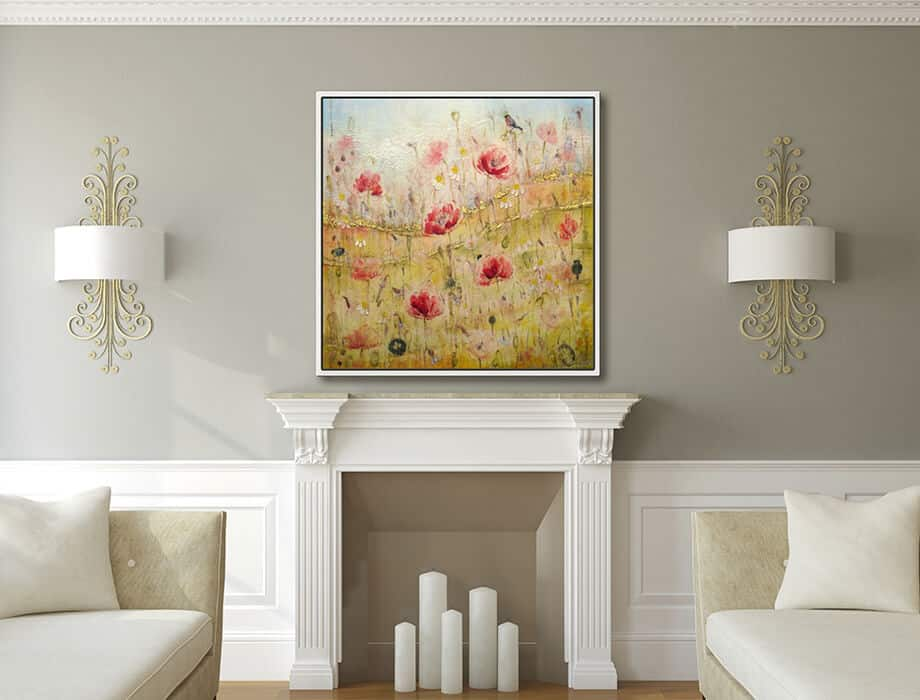 Tanya Kirouac Fireplace Poppy