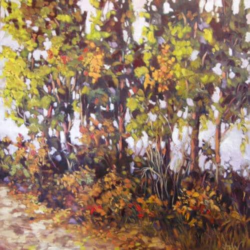 Ann Willsie The Bench Series V Poplar Row 36x36