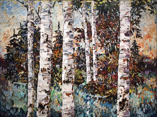 Maya Eventov New Day Birch 1 36x48