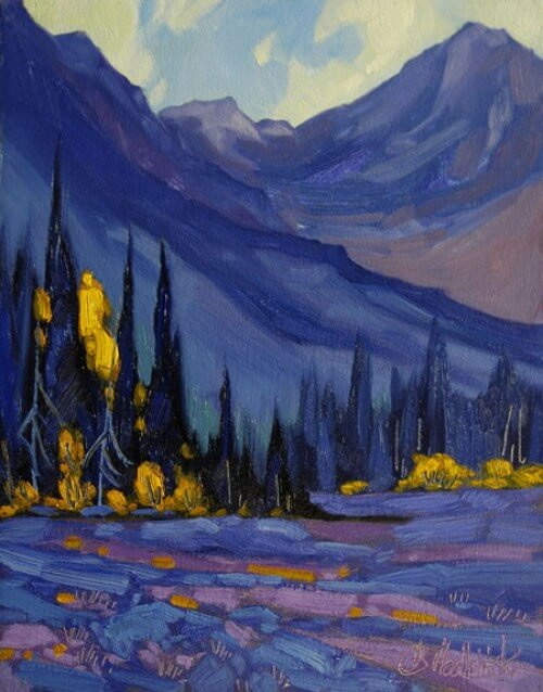 Dominik Modlinski Morning in the Kenai 14x11