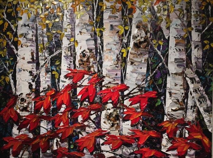 Maya Eventov Night Birch B 36×48