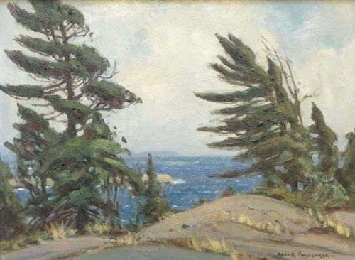 Frank Panabaker White Skies Georgian Bay 12x16