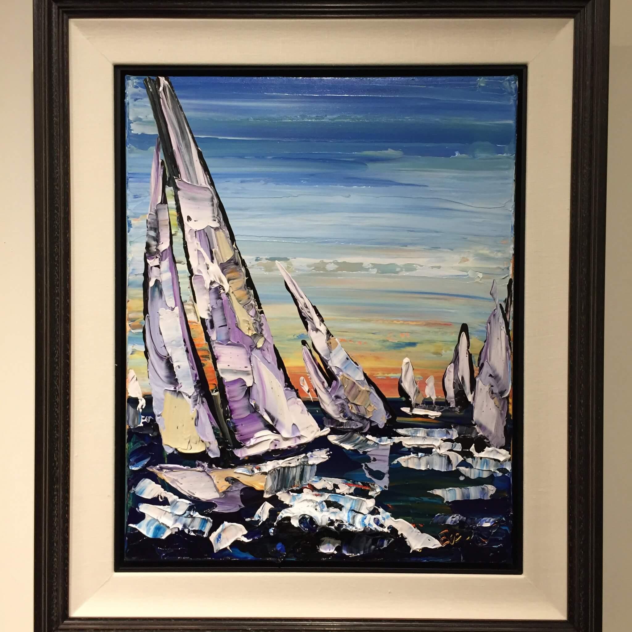 Maya Eventov Sailing B 20x16 Framed
