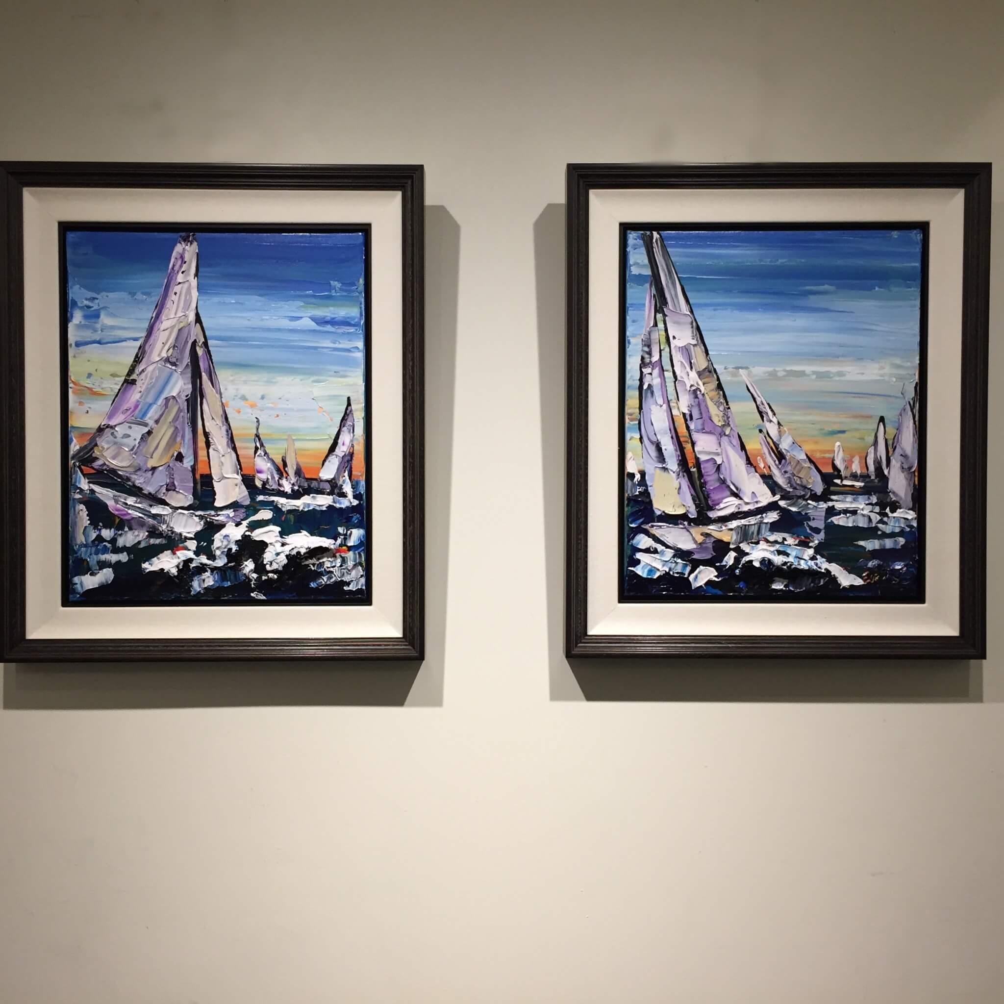 Maya Eventov Sailing Pair 20x16 Framed