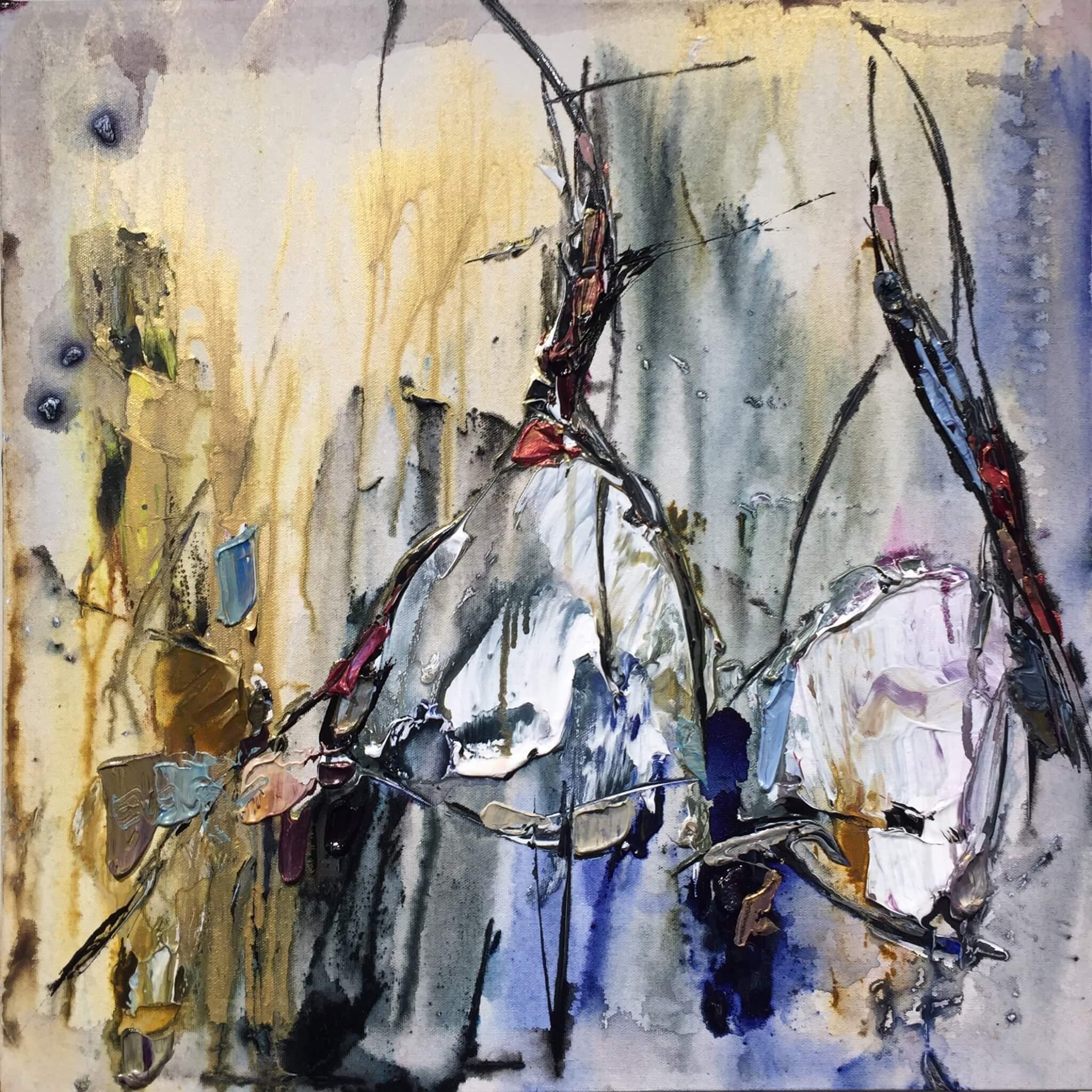 Maya Eventov Abstract Dancers 2 20x20