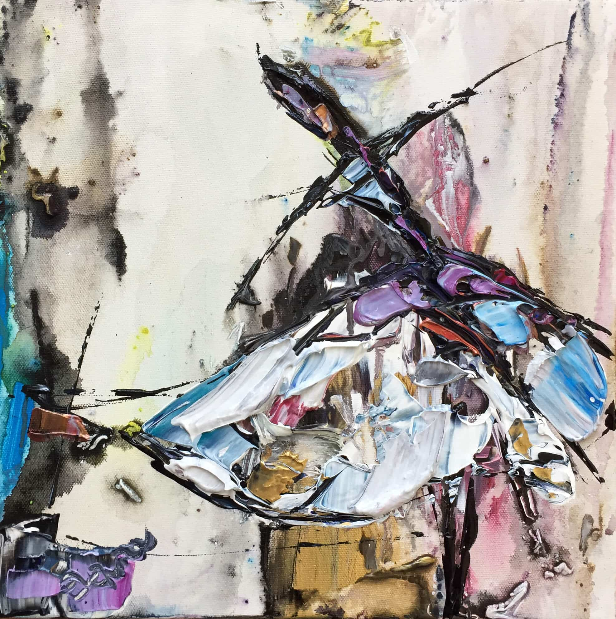 Maya Eventov Abstract Dancers 4 12×12