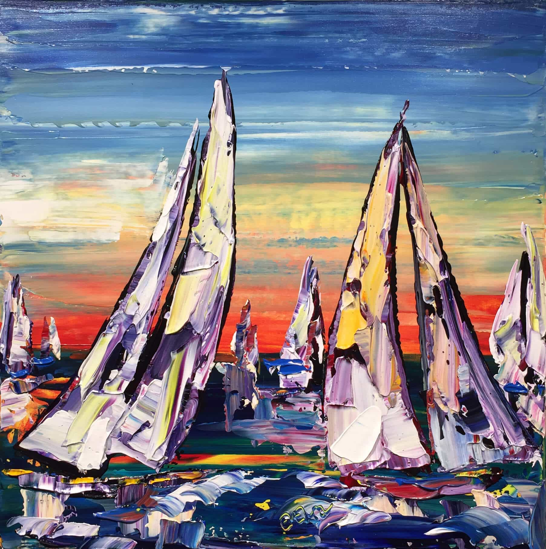 Maya Eventov Sailing Boats 24x24