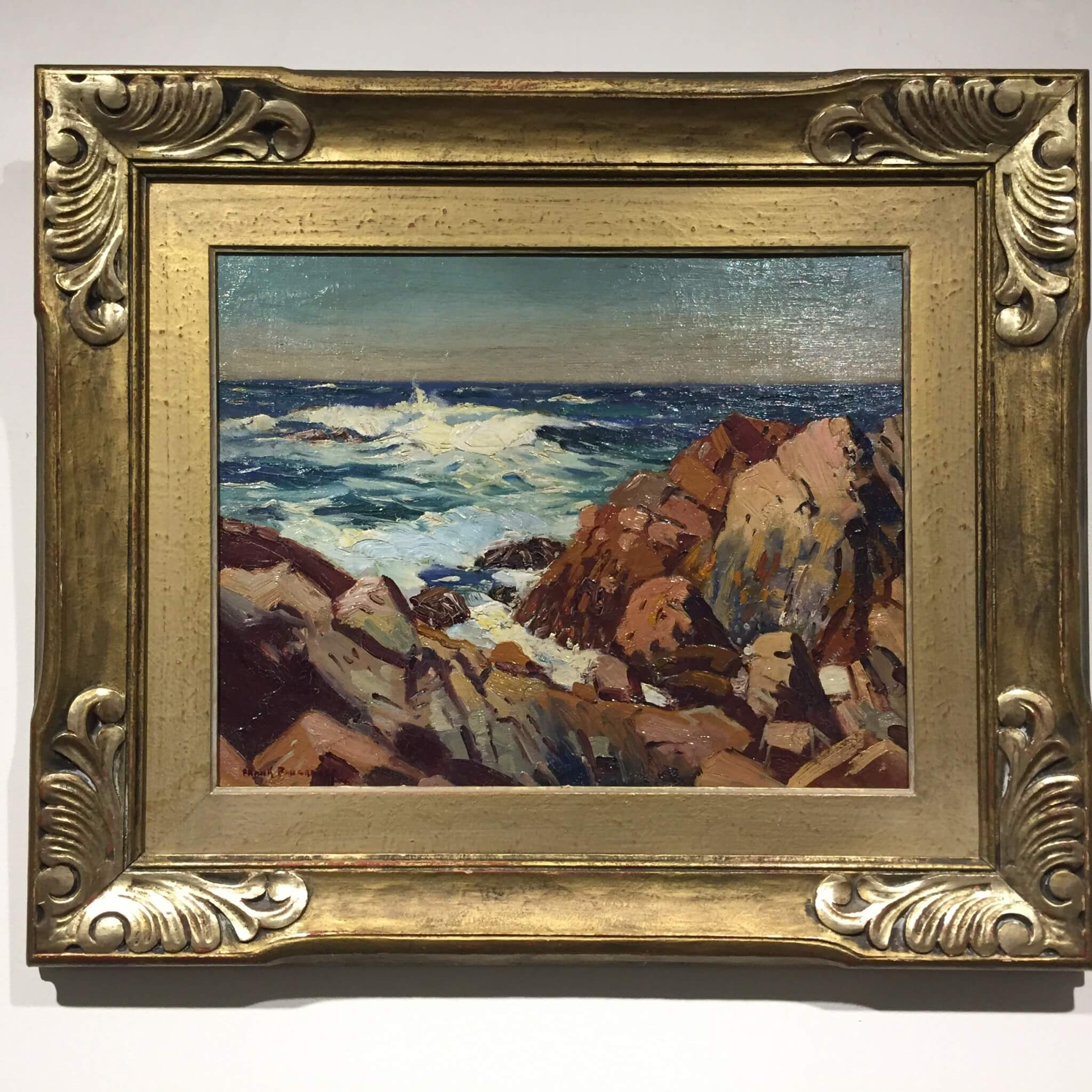 Frank Panabaker East Coast Shoreline 11x14 Framed