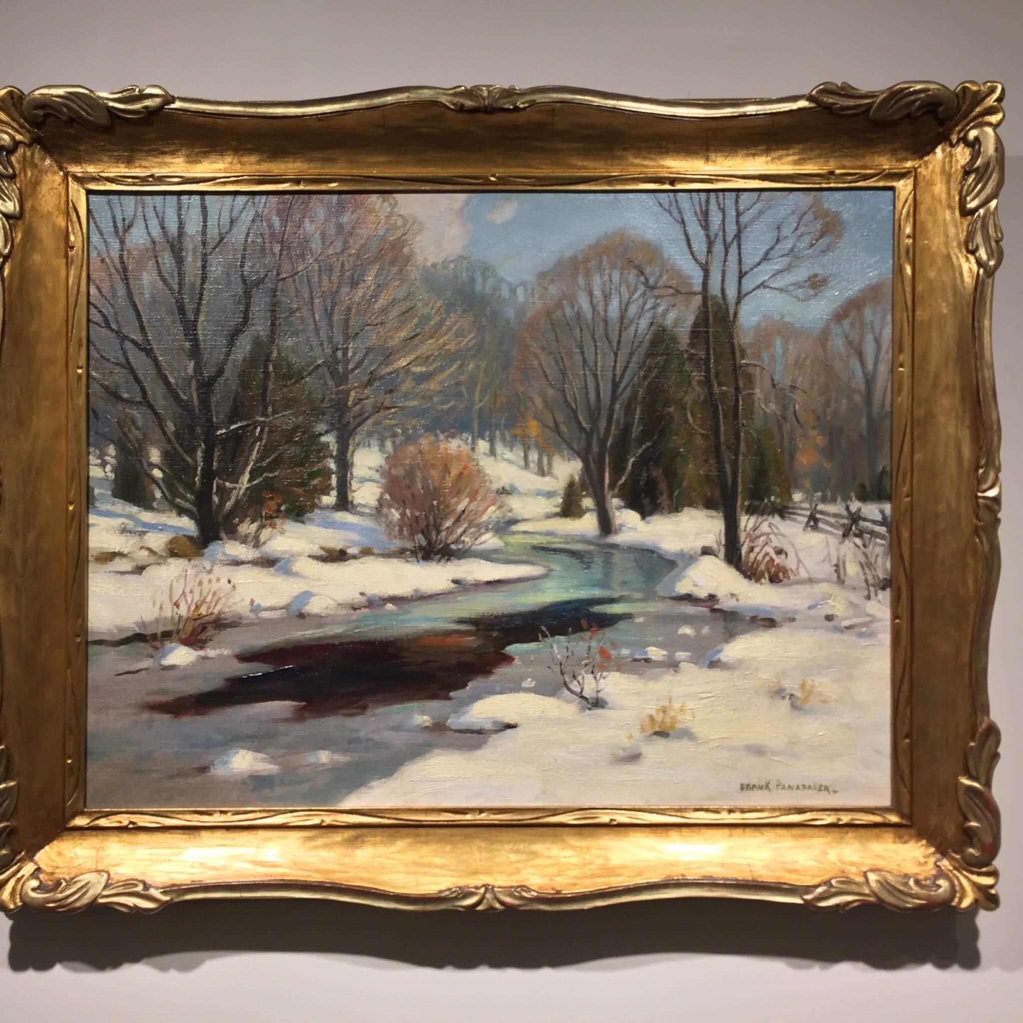 Frank Panabaker Onario Snowy Road 16x20 Framed