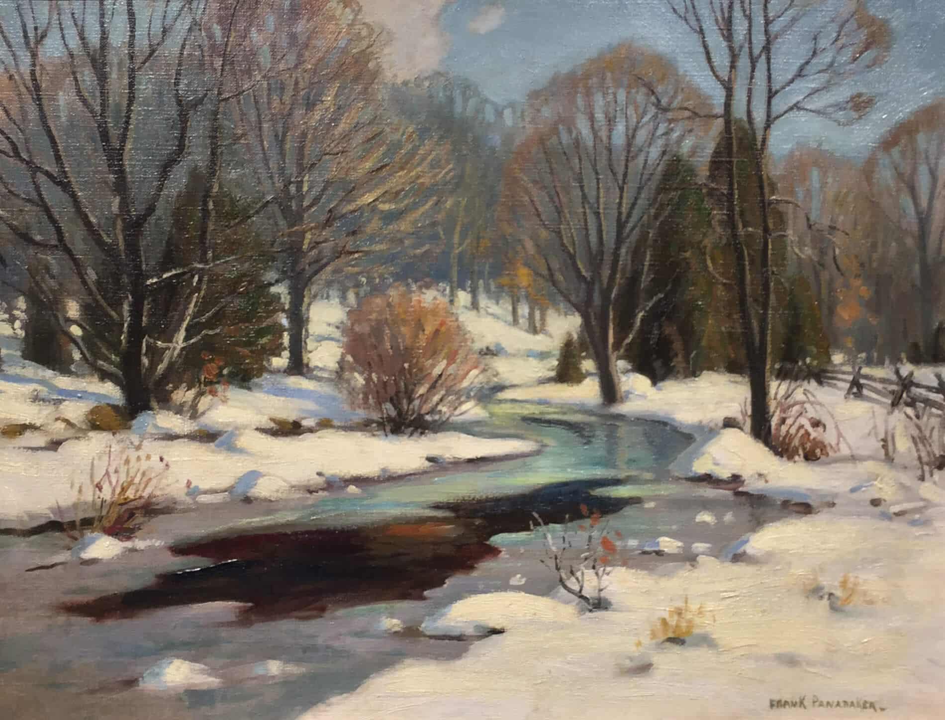 Frank Panabaker Onario Snowy River 16x20