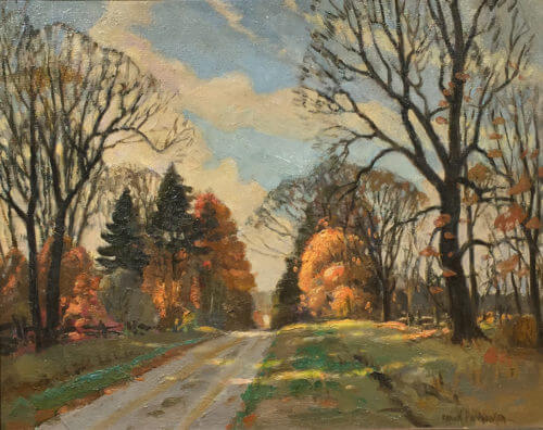 Frank Panabaker Ontario Fall Road 16x20