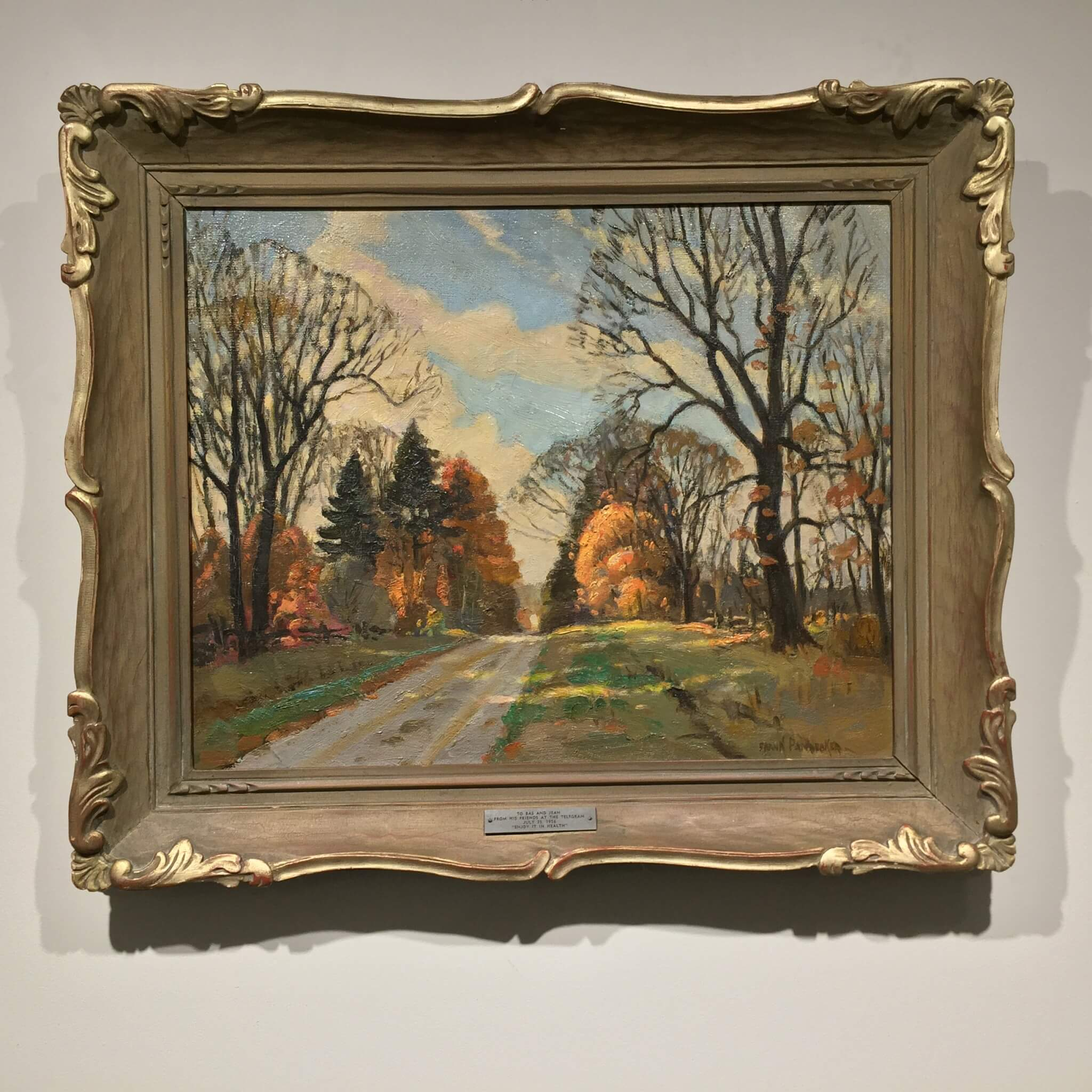 Frank Panabaker Ontario Fall Road 16x20 Framed
