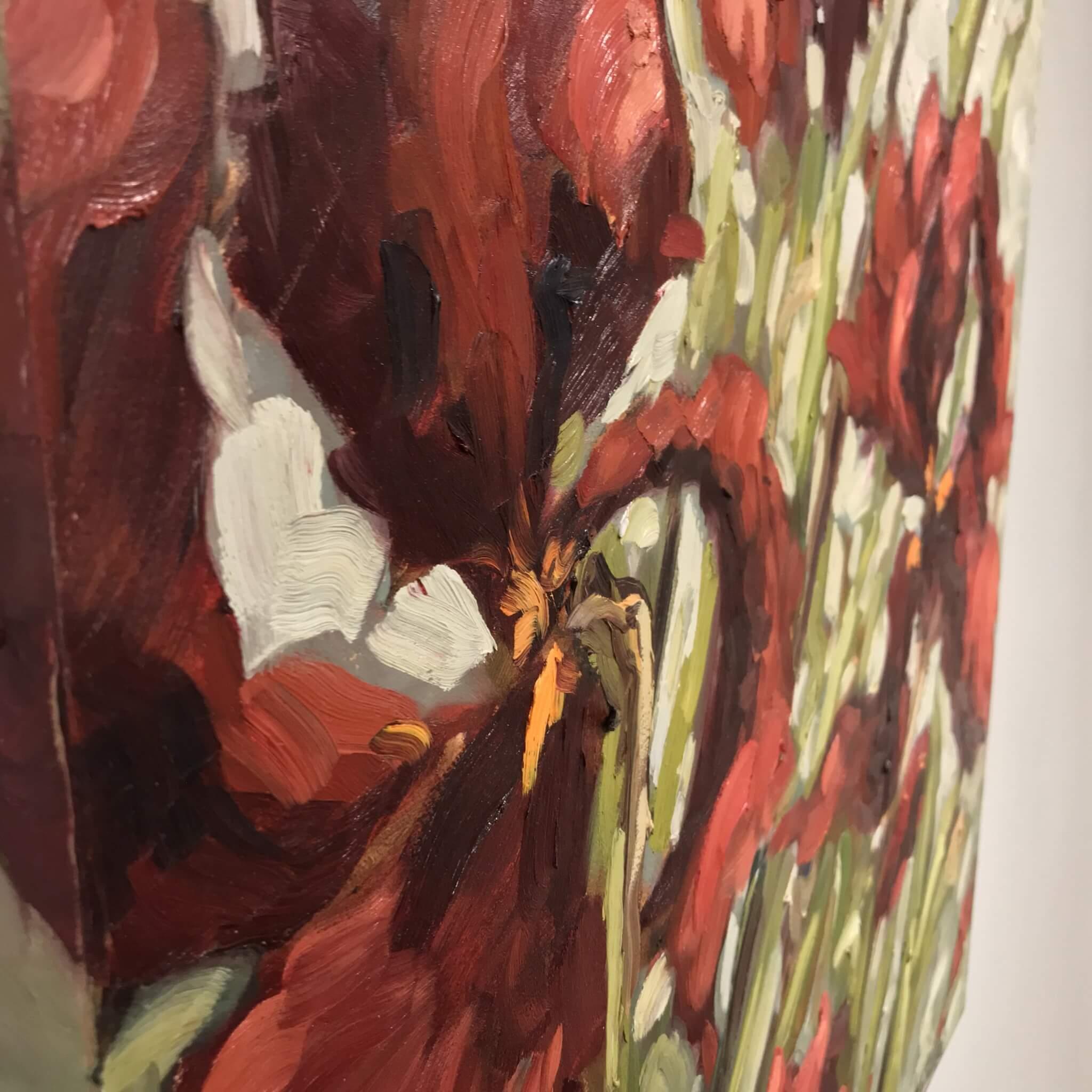 Ann Willsie Maroon Irises 36x24 D3