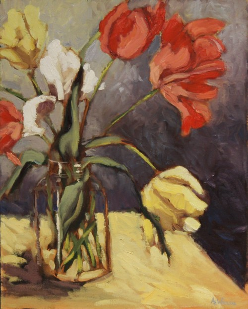 Ann Willsie Tulips Still Life 20x16