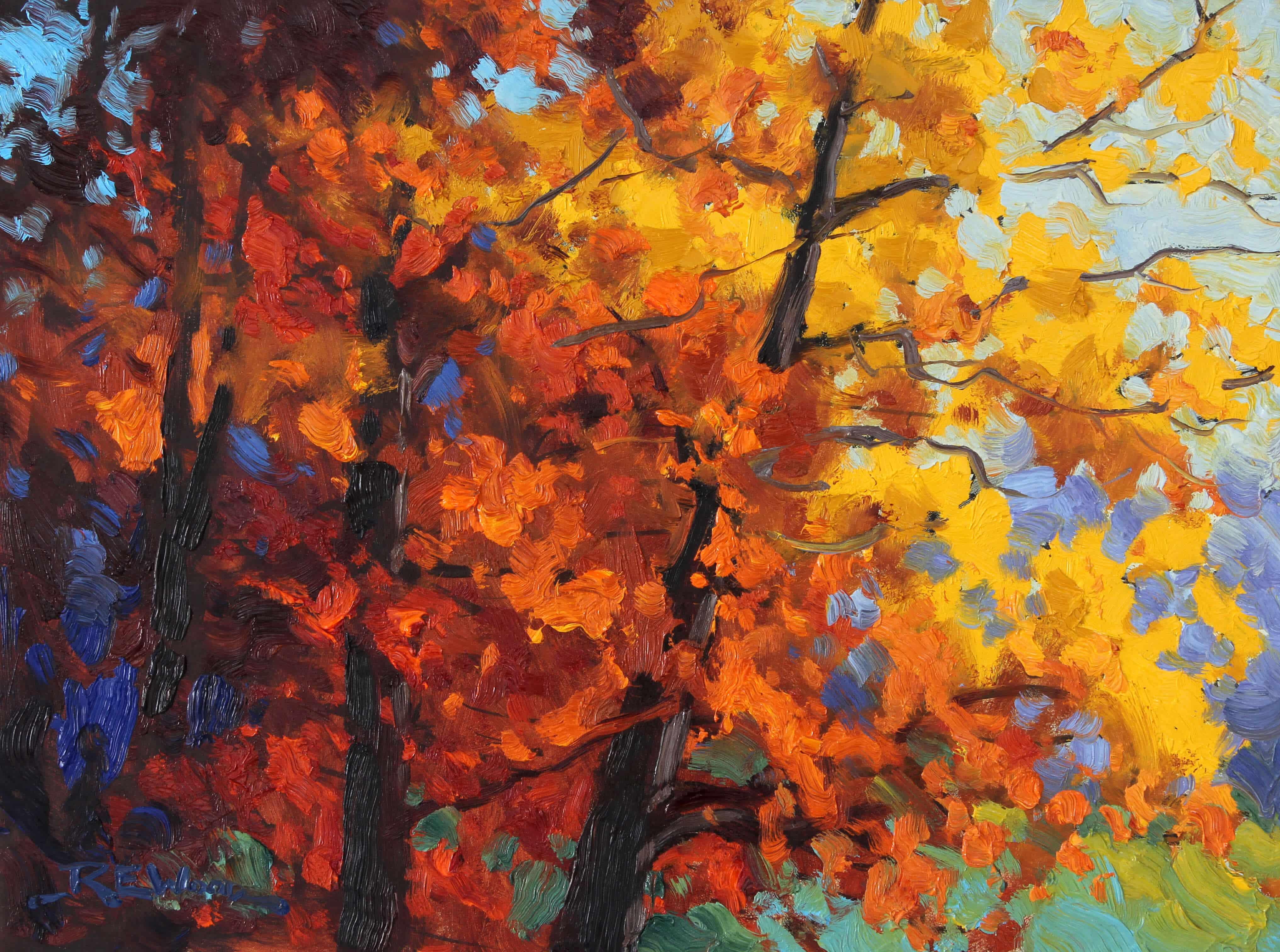 Robert E Wood Autumn Spectrum 12x16