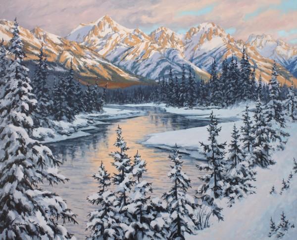Robert E Wood Bow River Sunset 48x60