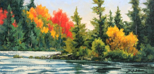 Robert E Wood Canoe Lake Algonquin 8x16