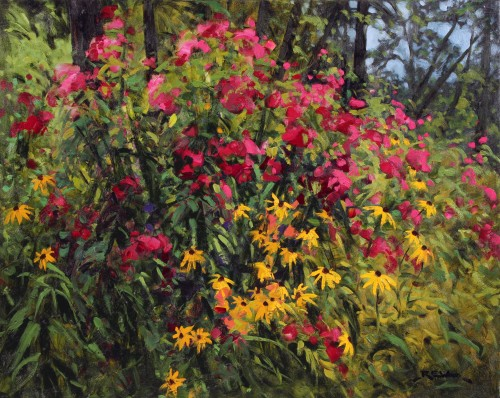Robert E Wood Garden in Algonquin Park 24x30