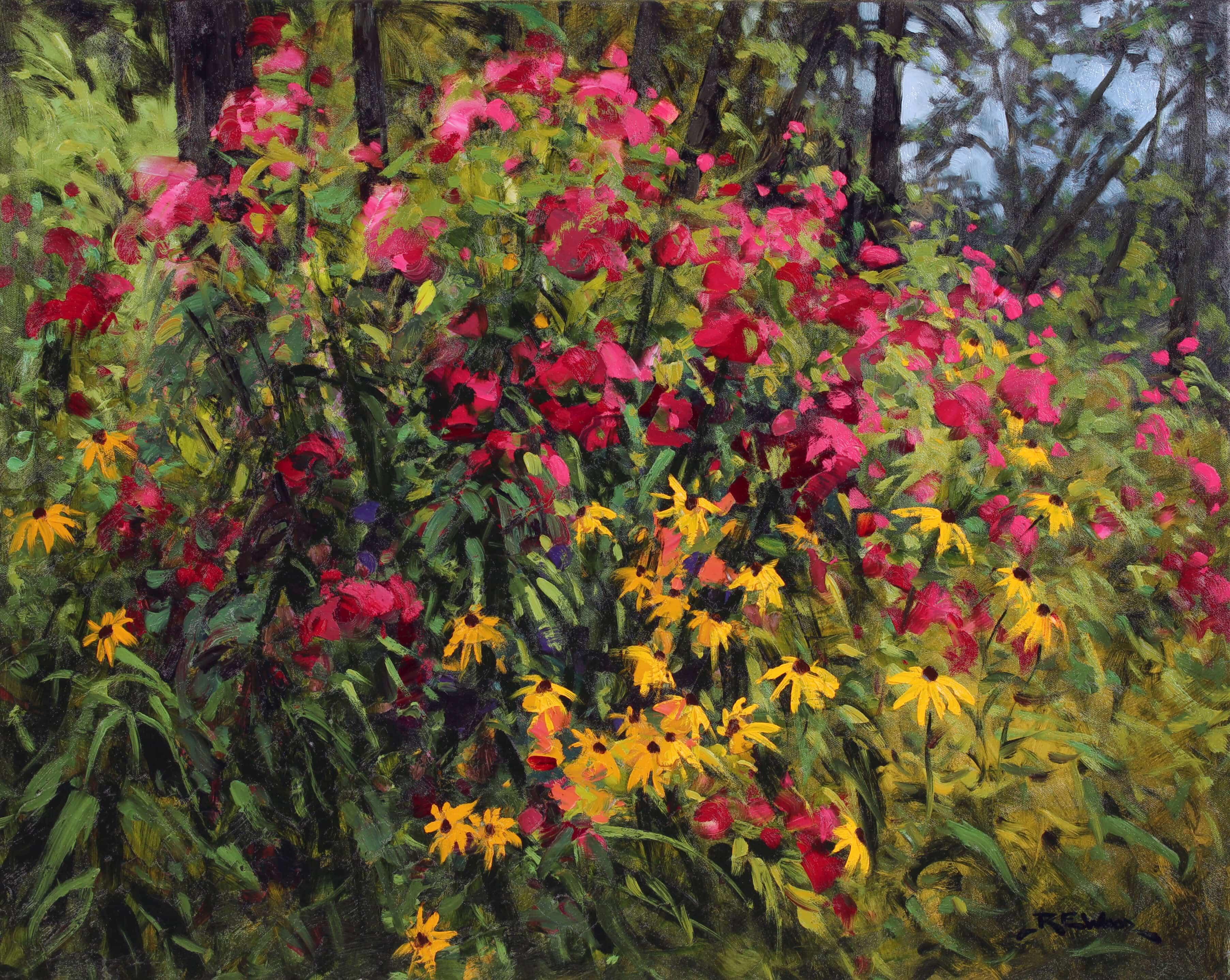 Robert E Wood Garden in Algonquin Park 24x30