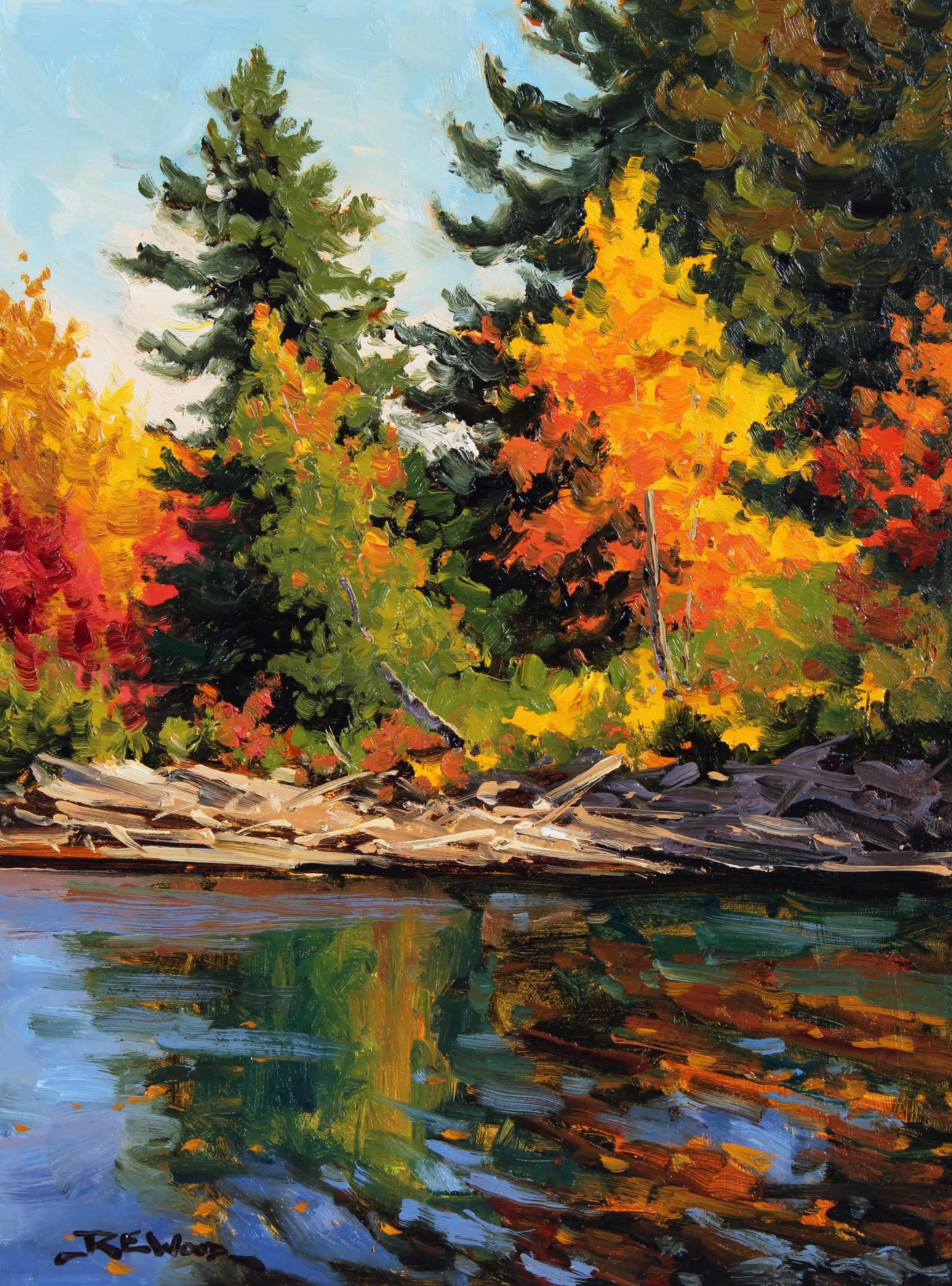 Robert E Wood Oxtongue Rivers Edge 16x12