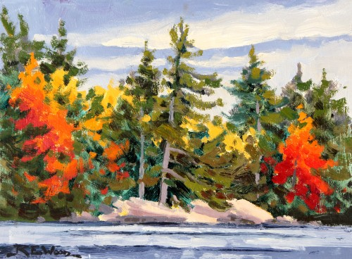 Robert E Wood Shoreline Little Joe Lake 9x12