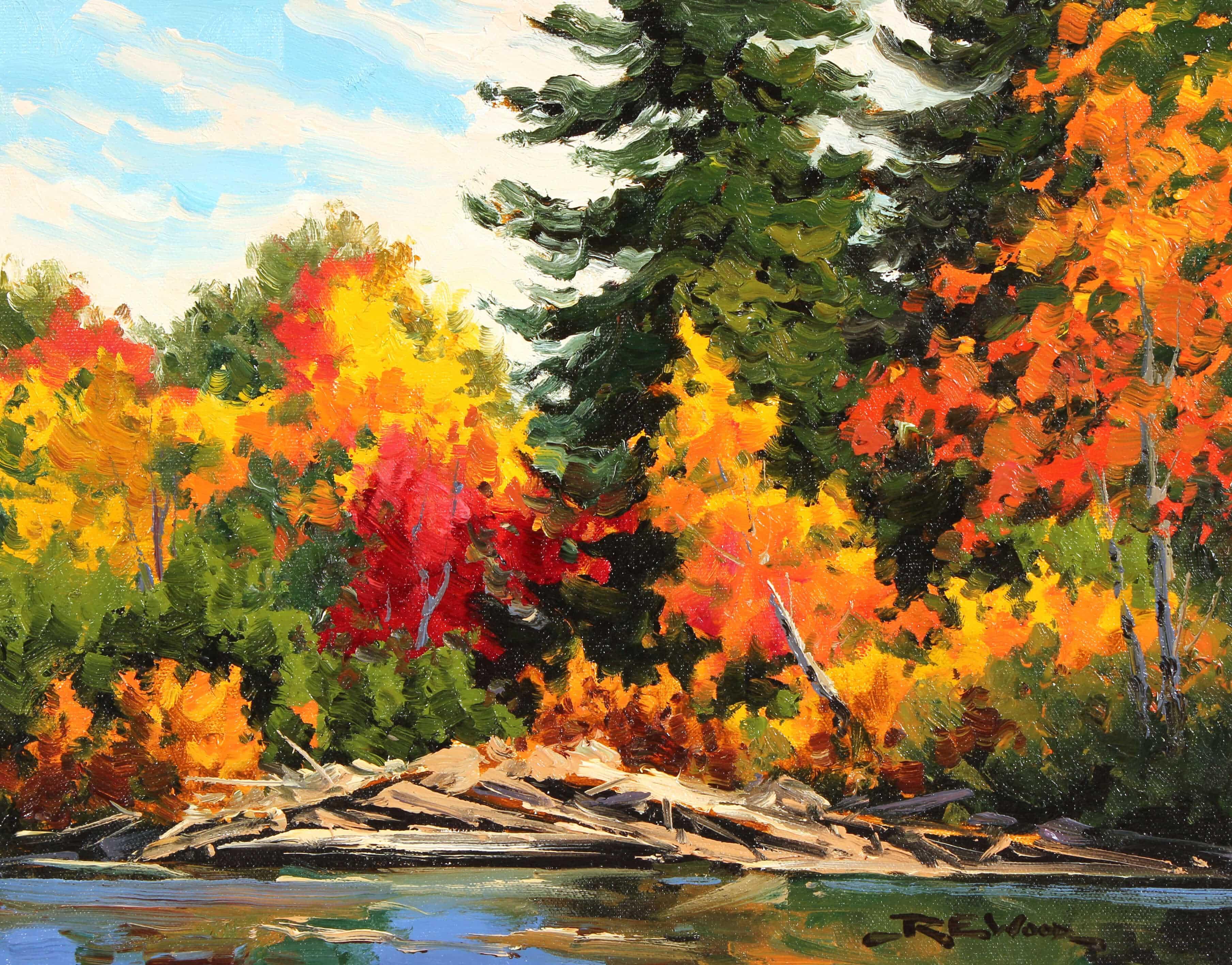 Robert E Wood Shoreline Oxtongue River 11x14