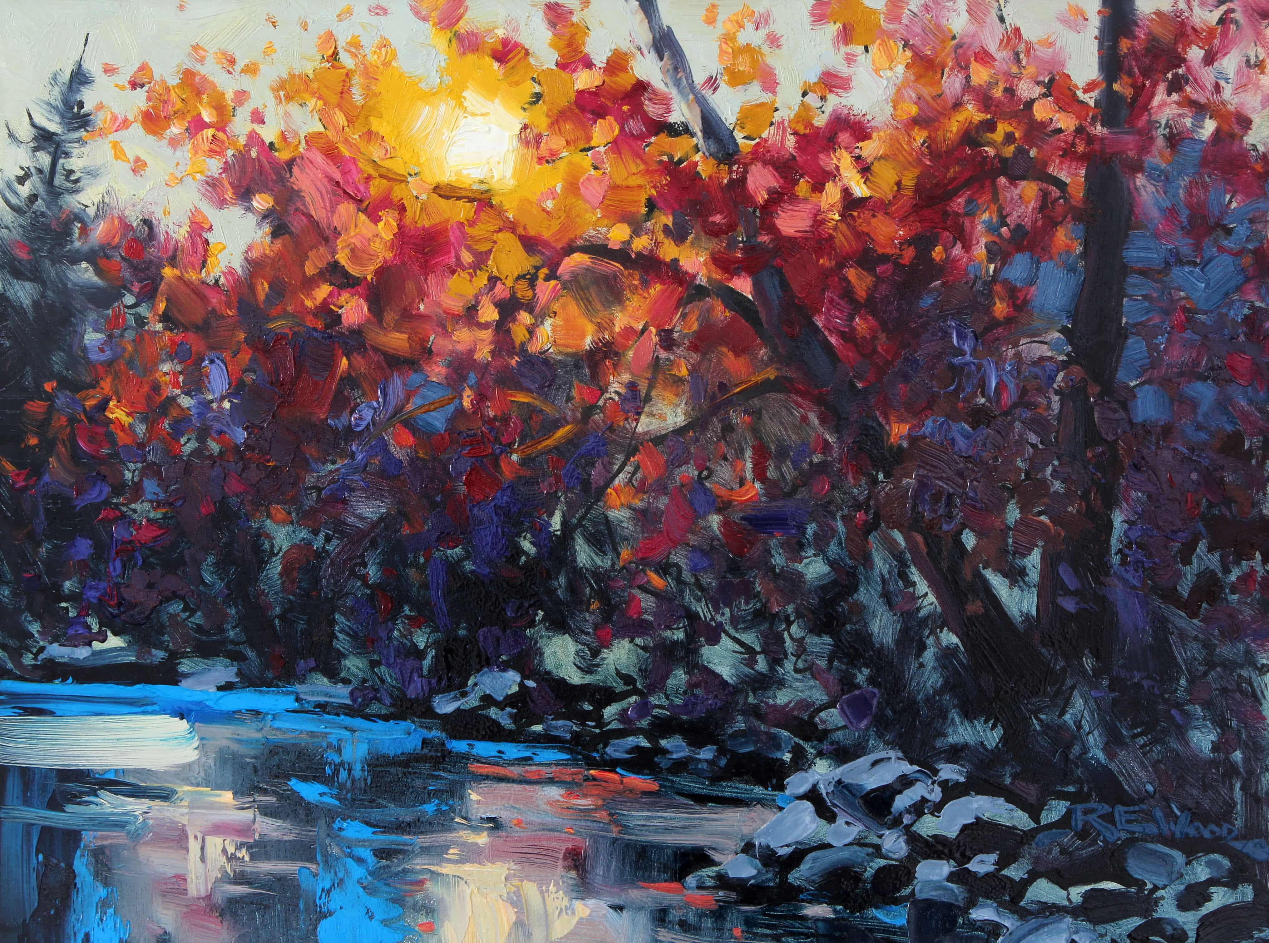 Robert E Wood Sunset Light 12x16