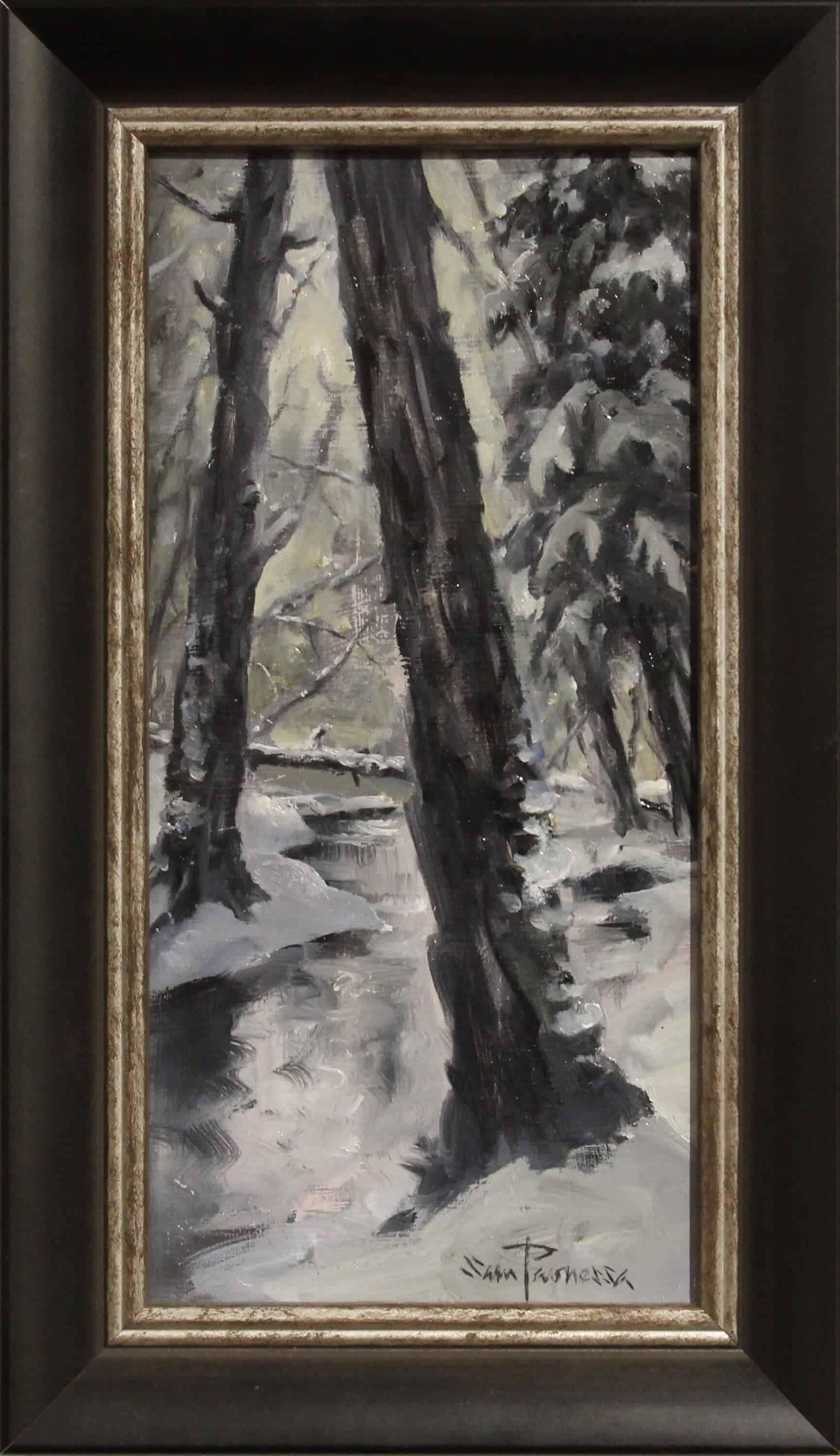 Sam Paonessa Forest Tonal Sketch 6X12 D1