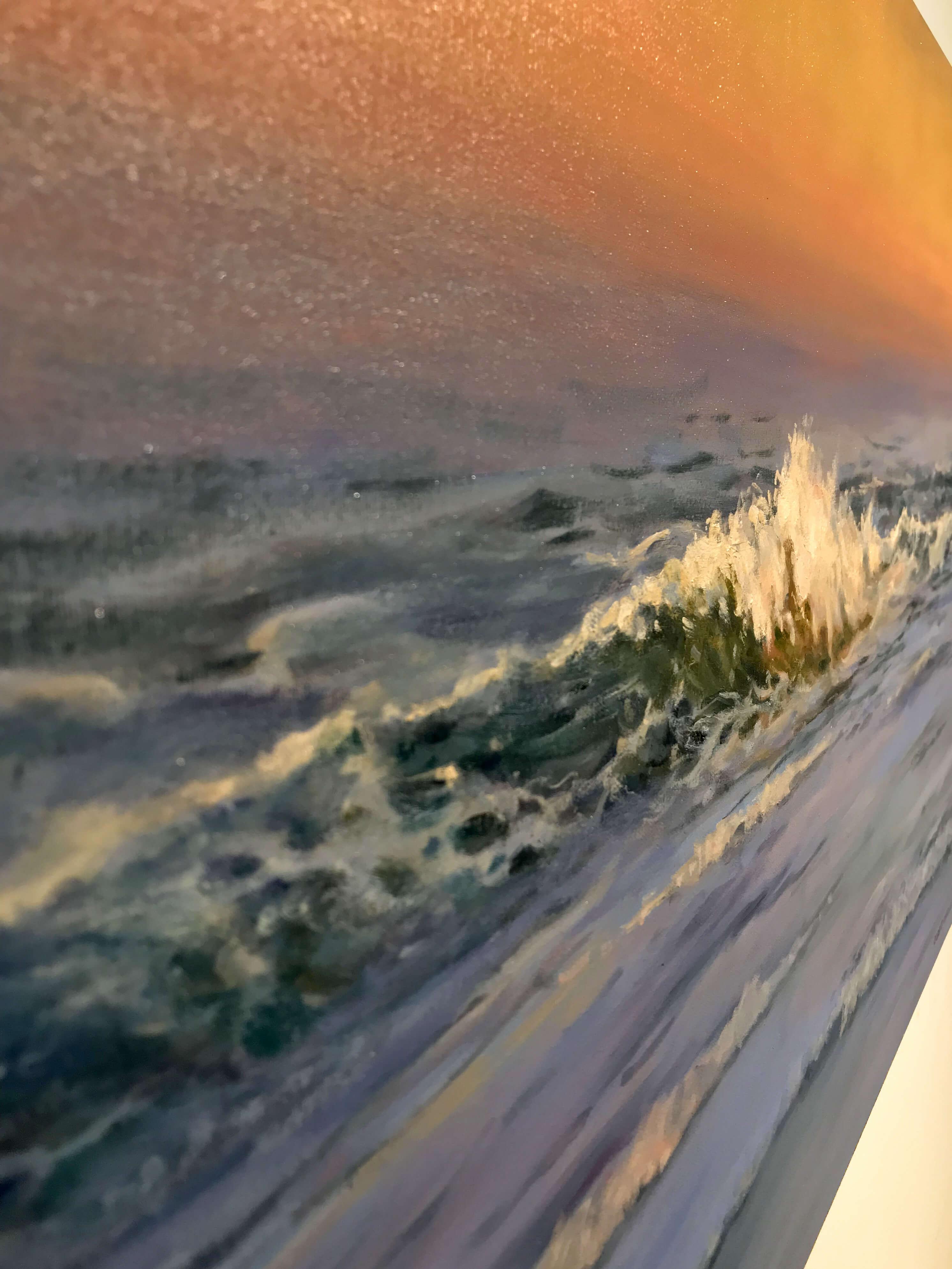 Robert Amirault Catching First Light 24X36 Detail 3