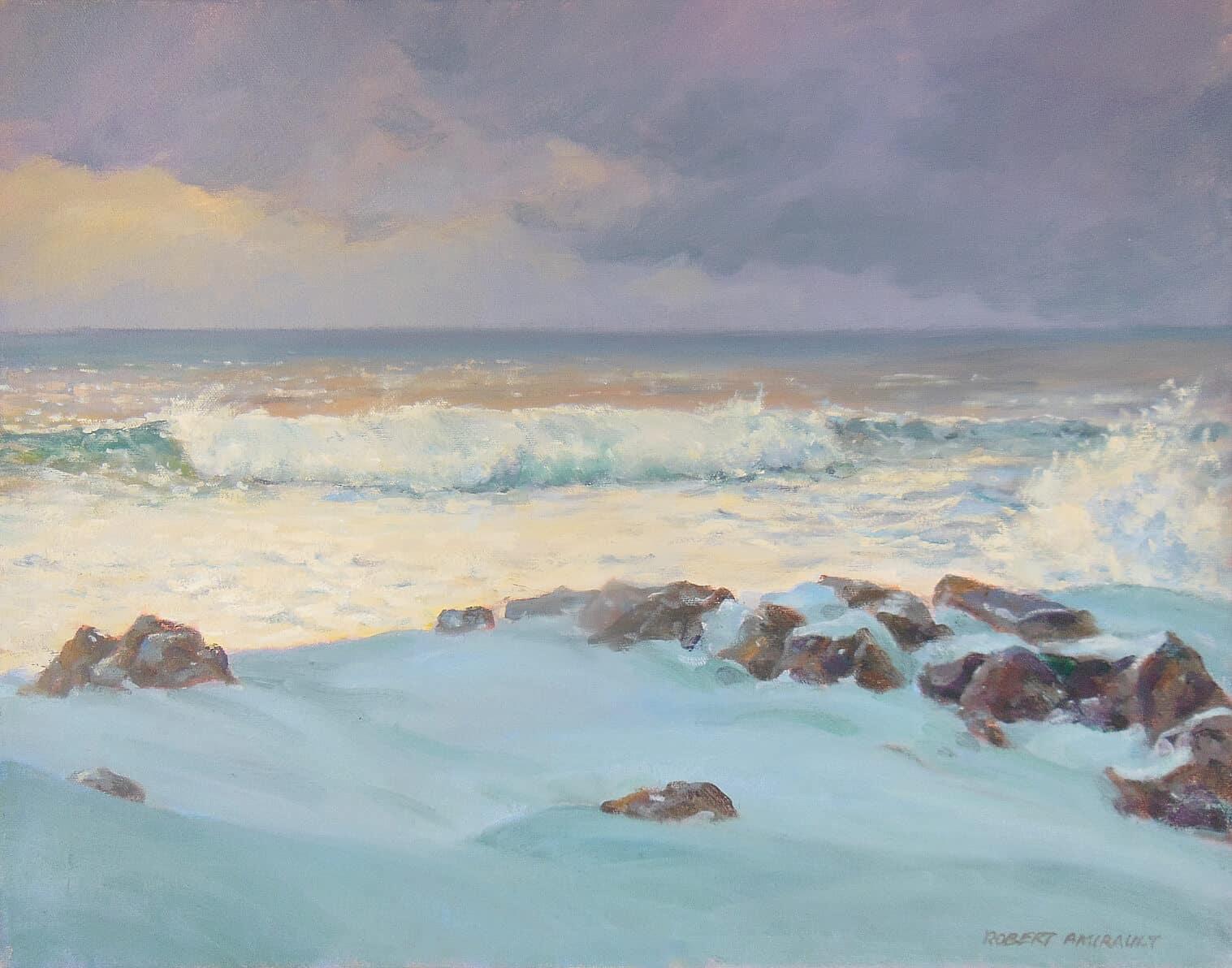 Robert Amirault Winter Ocean 16x20