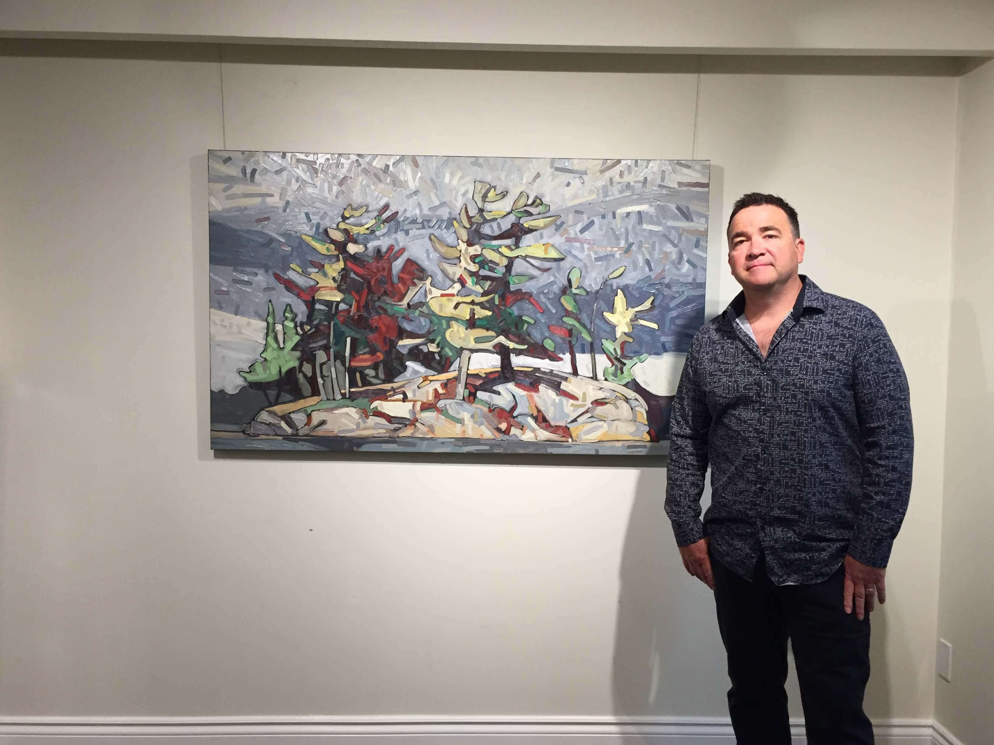 David Grieve with Wagi Jumping Rock 17 36x60