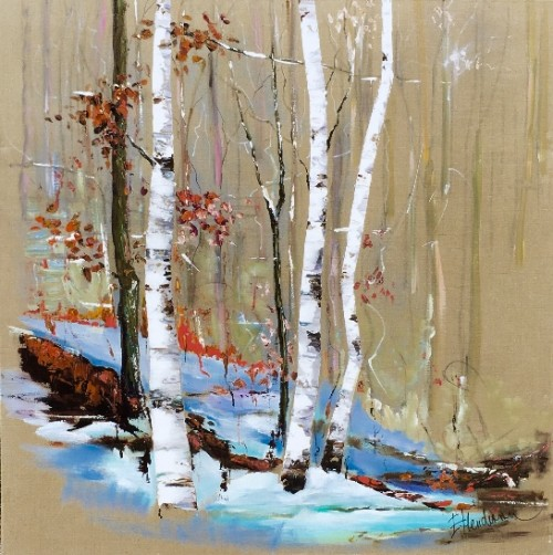 Elena Henderson White Birches Series 1 48x48