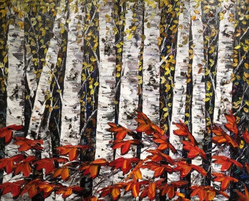 Maya Eventov Night Birch 48x60