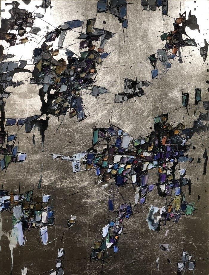 Maya Eventov Silver Abstract 48x36