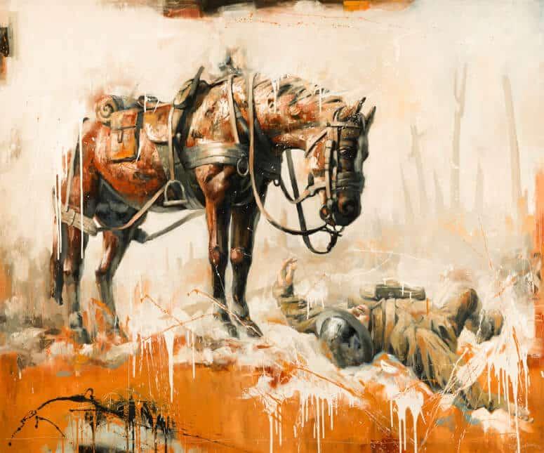 Brian Lorimer WAR HORSE 60x72