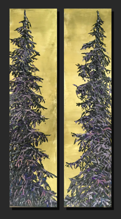 Maya Eventov Stretching Coniferous Pair