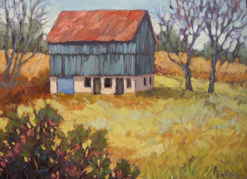Ann Willsie The Little Blue Barn 18x24