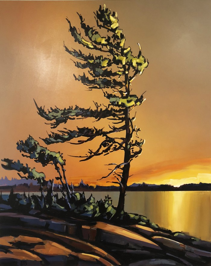 Jerzy Werbel Beyond the Windswept Pine 60x48