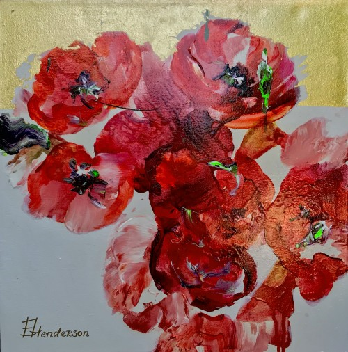 Elena Henderson Red Allure series 1 18x18