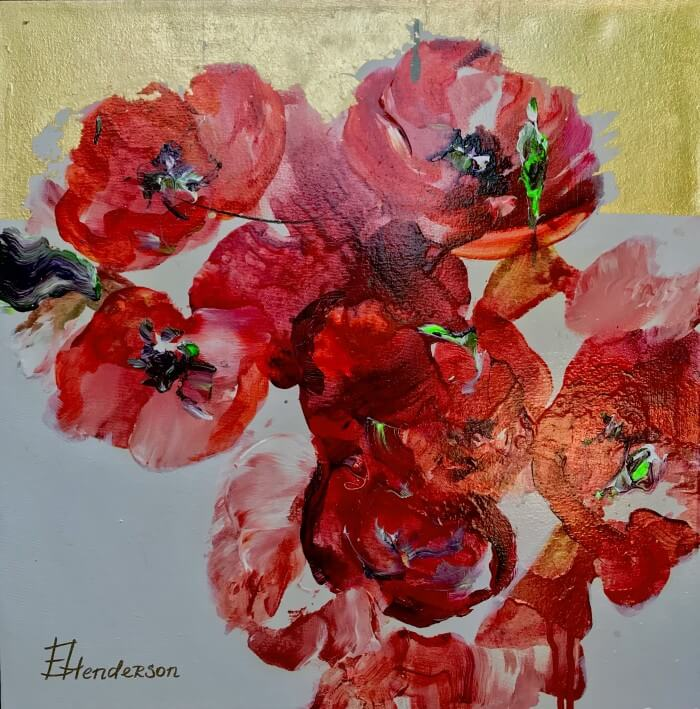 Elena Henderson Red Allure series 1 18x18