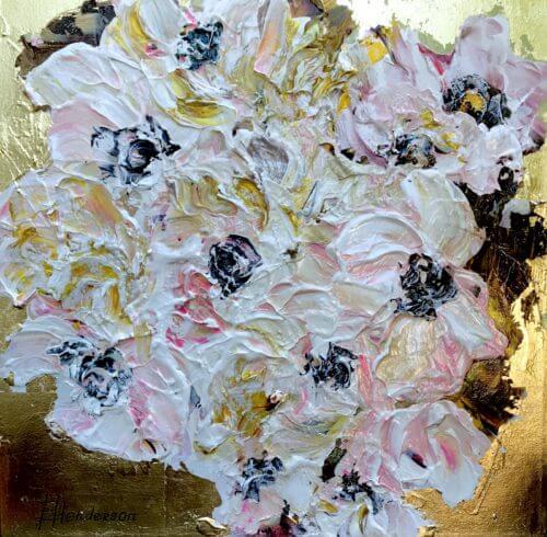 Elena Henderson Spring Blooms series 1 18x18