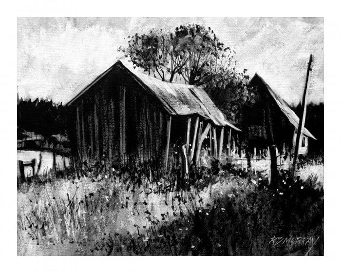 RD Murray Old Barn BW 16x20