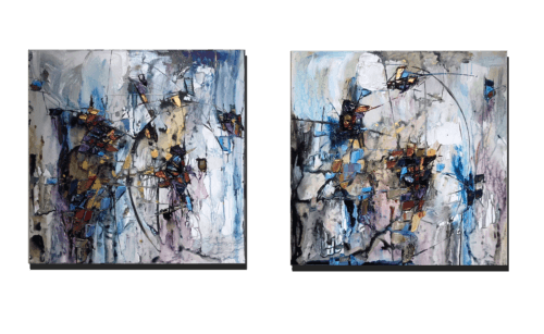 Maya Eventov Abstract Pair 30x30