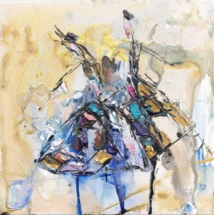 Maya Eventov Abstract Dancers 6 12×12